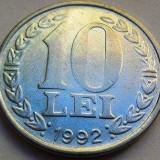 Moneda 10 Lei - ROMANIA, anul 1992 *cod 2041 a.UNC - Moneda Romania
