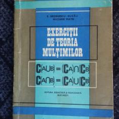 EXERCITII DE TEORIA MULTIMILOR - BUZAU, NAZARIE - Culegere Matematica