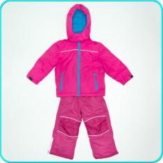 Costum de ski / iarna, geaca + pantaloni tip salopeta TCM _ fete | 3-4 ani | 104, Marime: Alta, Culoare: Fuchsia