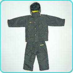 COSTUM SKI / IARNA, geaca+pantaloni salopeta SNOW BOARD _ baieti | 4-5 ani | 110, Marime: Alta, Culoare: Olive