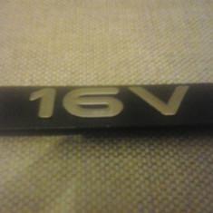 Sigla emblema - 16V - RENAULT - 125 x 30 mm - Embleme auto