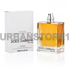 Parfum Tester Dolce Gabbana The One for Men + LIVRARE GRATUITA ! - Parfum barbati Dolce & Gabbana, Apa de toaleta, 100 ml, Lemnos oriental