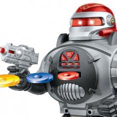 SUPER ROBOT LUPTATOR, INTELIGENT CU TELECOMANDA, LUMINI, SUNET, TRAGE, 31cm, VORBESTE. - Roboti de jucarie, Plastic, Unisex