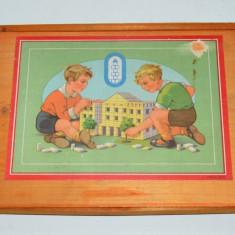 Joc vechi de colectie cu piese din lemn - Germania pre 1950 - Joc colectie