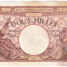 6. Bancnota 2000 lei 1 septembrie 1943 - Bancnota romaneasca