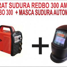 PACHET PROMO. Invertor de sudura REDBO 300 A + Masca AUTOMATA - Invertor sudura