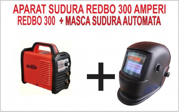 PACHET PROMO. Invertor de sudura REDBO 300 A + Masca AUTOMATA