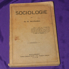 G D Scraba - Sociologie 1925 (s2510 - Carte Sociologie