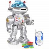 MEGA ROBOT INTELIGENT 32 CM CU TELECOMANDA,MERGE,CANTA,DANSEAZA,VORBESTE,TRAGE., Plastic, Unisex