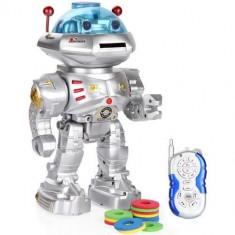 MEGA ROBOT INTELIGENT 32 CM CU TELECOMANDA, MERGE, CANTA, DANSEAZA, VORBESTE, TRAGE. - Roboti de jucarie, Plastic, Unisex