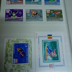 Lot complet Innsbruck 1976 - Timbre Romania, Nestampilat