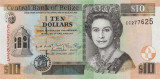 BELIZE █ bancnota █ 10 Dollars █ 2001 █ P-62b █ UNC █ necirculata