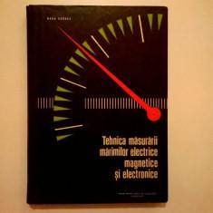 Radu Dordea - Tehnica masurarii marimilor electrice, magnetice si electronice - Carti Electrotehnica