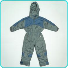 Combinezon tip salopeta ski / iarna, gros, impermeabil _ baieti | 5-6 ani | 116, Marime: Alta, Culoare: Gri