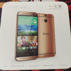 HTC One M8 Gold - Telefon mobil HTC One M8, Auriu, 32GB, Orange