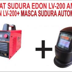 PROMOTIE. Aparat de sudura, invertor Edon LV-200 Amperi + MASCA SUDURA - Invertor sudura