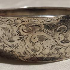 "Bratara argint stil Edwardian ""cuff"" Anglia Birmingham 1900 SPLENDIDA superba"