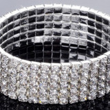 Bratara Stretch Tennis 5 randuri cristale Cod produs: 5R