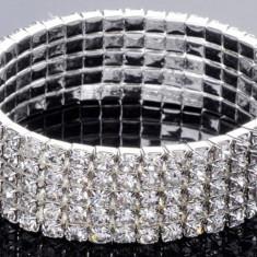 Bratara Stretch Tennis 5 randuri cristale Cod produs: 5R - Bratara Swarovski
