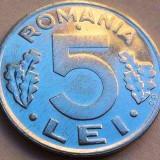 Moneda 5 Lei - ROMANIA, anul 1992 *cod 1943 UNC - Moneda Romania
