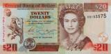BELIZE █ bancnota █ 20 Dollars █ 2003 █ P-69a █ UNC █ necirculata