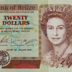 BELIZE █ bancnota █ 20 Dollars █ 2003 █ P-69a █ UNC █ necirculata - bancnota america