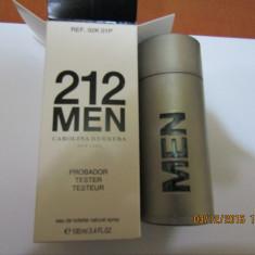 PARFUM TESTER 212 MEN --100 ML ---SUPER PRET, SUPER CAL! - Parfum barbati Carolina Herrera, Apa de toaleta