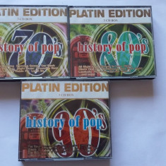 MUZICA POP PLATIN EDITION, LOT 9 CD-URI IN 3 CARCASE !