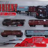 Trenulet Orient Electric baterii sine 2,8m locomotiva + 3 vagoane nou sigilat