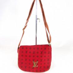 Geanta dama rosie Louis Vuitton +CADOU, Culoare: Din imagine, Marime: Medie, Geanta de umar, Rosu, Asemanator piele