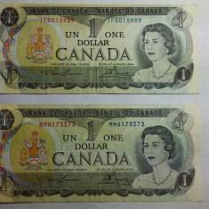 BANCNOTE 1 DOLAR CANADA - 1973 - 2 BUC - bancnota america