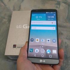 LG G3 D855 16 GB Titan aproape impecabil la cutie - Telefon mobil LG G3, Negru, Neblocat, Single SIM, 2 GB