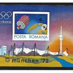Colita Olimpiada Munchen 1972 - Timbre Romania, Nestampilat