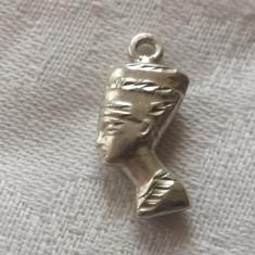 Medalion argint NEFERTITI Egipt 1900 marcaj vechi Superb finut delicat de Efect