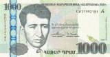 ARMENIA █ bancnota █ 1000 Dram █ 2015 █ P-55 █ UNC █ necirculata