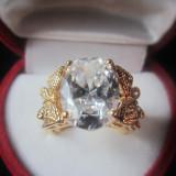 Inel Luxury Princess Crystal cod 1610IN02 - Inel aur, Carataj aur: 18k, Culoare: Galben, 46 - 56