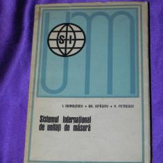 Sistemul international de unitati de masura - Iscrulescu, Ispasoiu (f0123