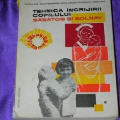 Tehnica ingrijirii copilului sanatos si bolnav - indreptar pt asistente (f0065