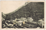 #1973- Ro, Baile Herculane, c.p. circ. 1938: Vederea parcului, francatura mixta, Circulata, Fotografie