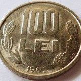 Moneda 100 Lei - ROMANIA, anul 1992 *cod 2502 - Moneda Romania