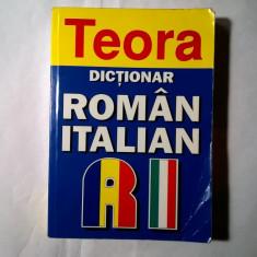 Alexandru Balaci – Dictionar roman-italian {Teora, 2005} - Carte in italiana