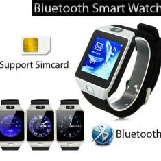 Smartwatch argintiu tuchscreen, cartela SIM telefon, ceas inteligent, blueroorh, Alte materiale, Android Wear
