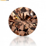 DIAMANT NATURAL CHAMPAGNE - 2,25 mm diametru - superb , pret de start 1EURO