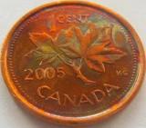Moneda 1 Cent - CANADA, anul 2005  *cod 2351  a.UNC, America de Nord
