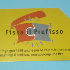 CARTELA TELEFONICA ITALIA 4 - Cartela telefonica straina