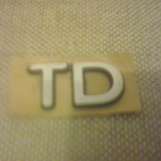 Sigla emblema - TD - FORD - 48 x 28 mm - Embleme auto