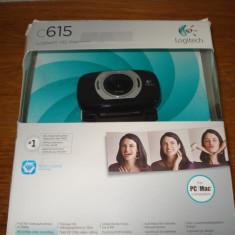 Camera web logitech C 615 full HD 1920x1080 8MP rotire 360 grade USB - Webcam Logitech, Peste 2.4 Mpx, Microfon