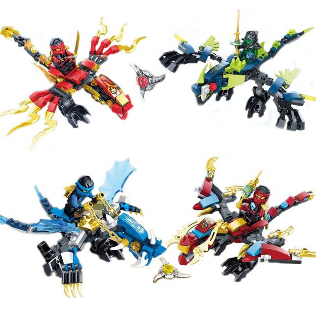Set 4 jocuri tip lego ninjago sy249 a d 389 piese morro kai jay nya noi arhiva - Ninjago dragon d or ...