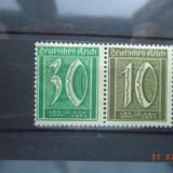 1921 Germania ( Reich ) Mi - W 19 Cu guma si sarniera., Nestampilat