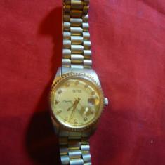 Ceas mecanic marca SUTUS, calendar, cristale, bratara metalica, D.cadran=3cm - Ceas de mana